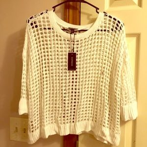 Express mesh cropped top Small NWT